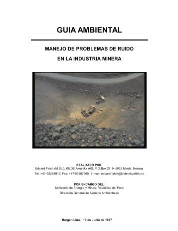 GUIA AMBIENTAL - Ministerio de Energía y Minas