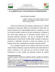 El clamor de las y los sujetos en la investigación - Revista ...