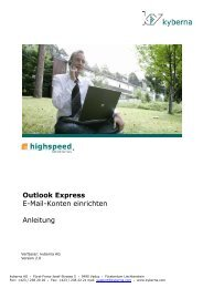 Outlook Express E-Mail-Konten einrichten Anleitung