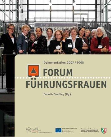 Dokumentation Forum Führungsfrauen 2007/2008 - chefin-online.de