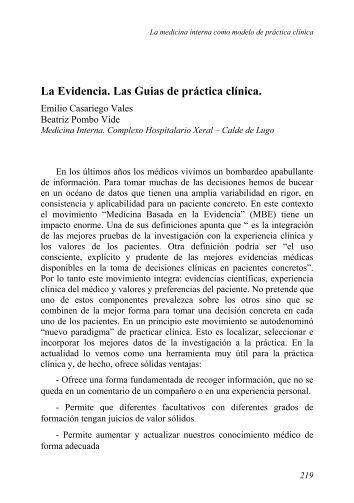 guias de practica clinica para el diagnostico, evaluacion