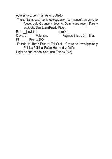 fracaso ecologizacion aledo.pdf - RUA - Universidad de Alicante