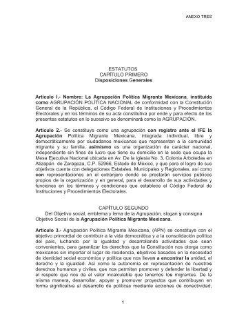 La Agrupación Política Migrante Mexicana , instituid