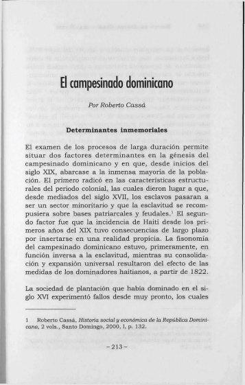 El campesinado dominicano - BAGN