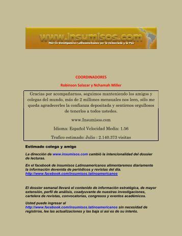 Lecturas Tercera Agosto 2012 - Insumisos