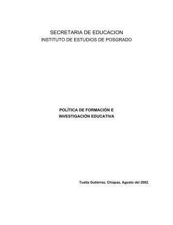 Politica de Formación e Investigación Educativa Tamaño