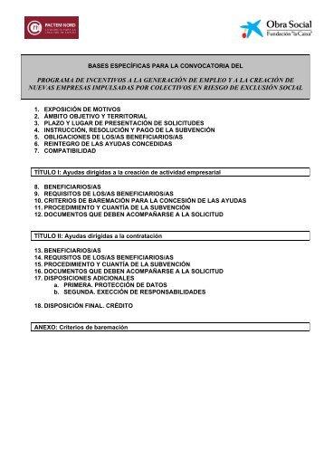 Pactem Nord y Obra Social La Caixa Programa - Consorci Pactem ...