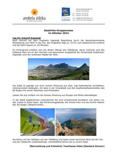 Südafrika – Gruppenreise - Reise Treff Ludwig