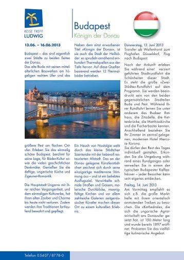 Budapest - Reise Treff Ludwig
