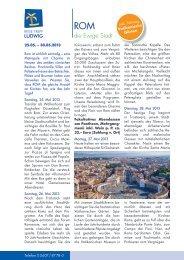 die Ewige Stadt - Reise Treff Ludwig