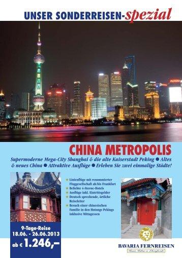 CHINA METROPOLIS - Reise Treff Ludwig