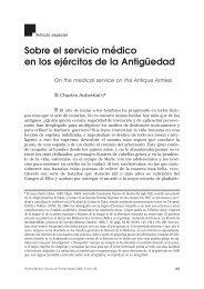 Sobre el servicio médico en los ejércitos de