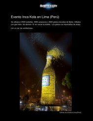 Evento Inca Kola en Lima (Perú) - Balloon City