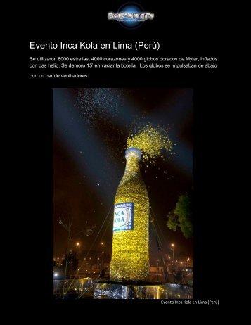 Evento Inca Kola en Lima (Perú) - Balloon City