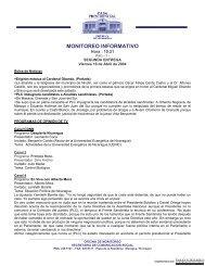 Monitoreo Informativo 16 abril 2004 - Biblioteca Enrique Bolaños