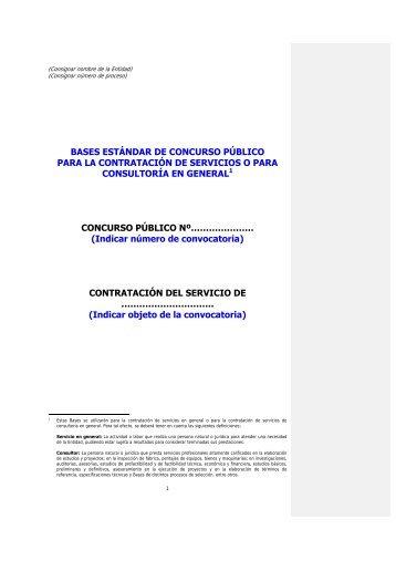 Contratacion de servicios y consultoria por CP - Ministerio de ...