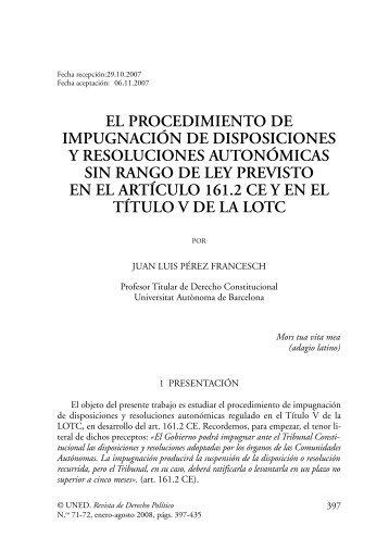 EL PROCEDIMIENTO DE IMPUGNACIÓN DE ... - e-Spacio - UNED