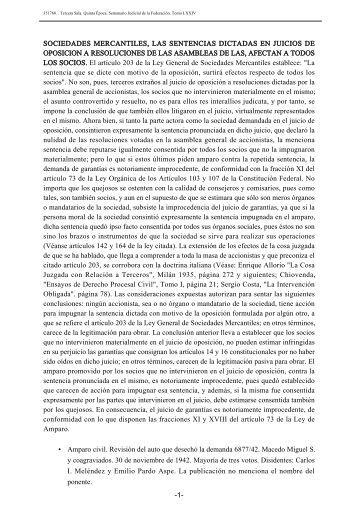 sociedades mercantiles, las sentencias dictadas en juicios de ...