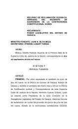 RECURSO DE RECLAMACIÓN EN LA