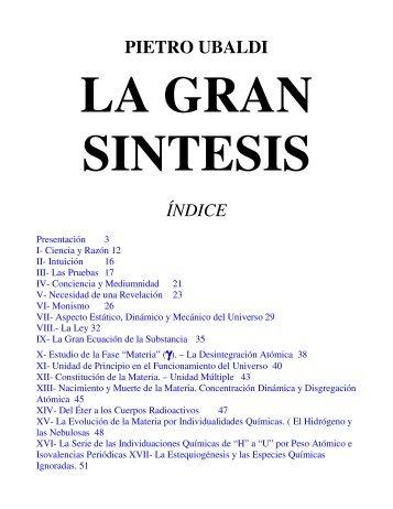 La Gran Sintesis (pdf) - Instituto Pietro Ubaldi De Venezuela