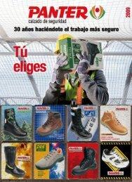 Catalogo calzado de seguridad Panter - 01. Indice y norma