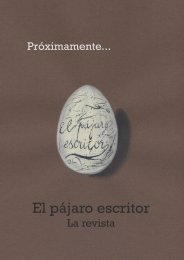 El pájaro escritor - Manolo Yague