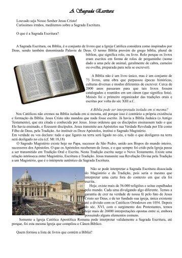 A Sagrada Escritura.pdf - Paróquia Santa Edwiges