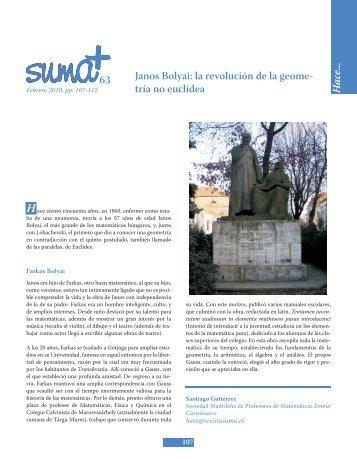 Janos Bolyai - SUMA Revistas de matemáticas