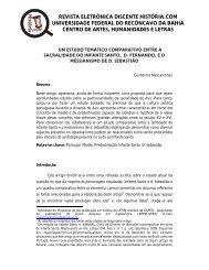 revista eletrônica discente história.com universidade federal ... - UFRB