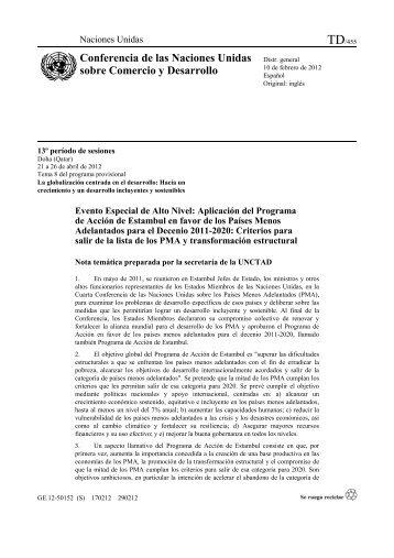 Conferencia de las Naciones Unidas sobre Comercio y ... - Unctad