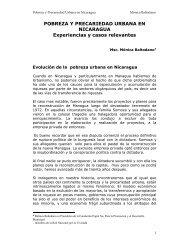 POBREZA Y PRECARIEDAD URBANA EN NICARAGUA ... - Cepal
