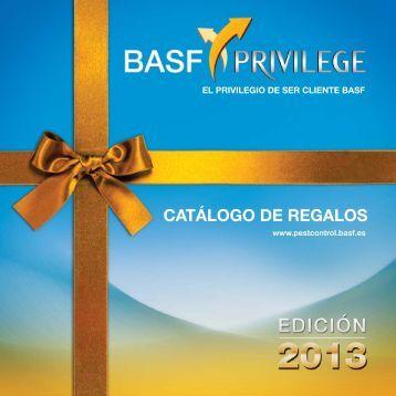 CATÁLOGO DE REGALOS - basf-privilege