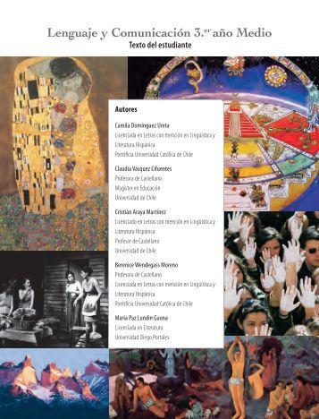 Lenguaje y Comunicación 3.er año Medio - Ministerio de Educación