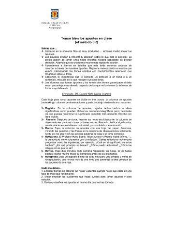 tomar apuntes - Colegio Inglés Católico de La Serena