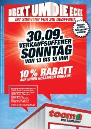 sonntag - toom Baumarkt
