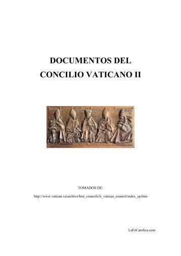 Frutos y retos del concilio vaticano ii entretiempo de fe - Parroquia santa catalina la solana ...