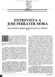 ENTREVISTA A JOSÉ FERRATER MORA - Fundación Gustavo Bueno