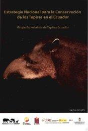 Estrategia Nacional de conservación del Tapir - Ministerio del ...