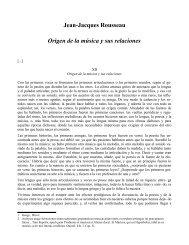 Roussau - Origen de la música y sus relaciones