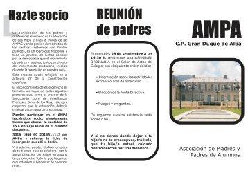 folleto ampa.cdr - CEIP Gran Duque de Alba - Junta de Castilla y León