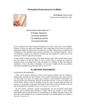 PRINCIPIOS FINANCIEROS EN LA BIBLIA - Tesoro Digital