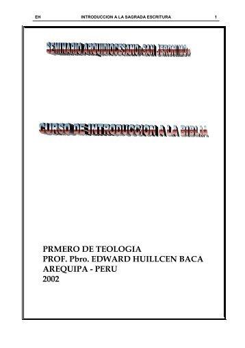 CURSO DE SAGRADA ESCRITURA 1 - ODEC - Arequipa