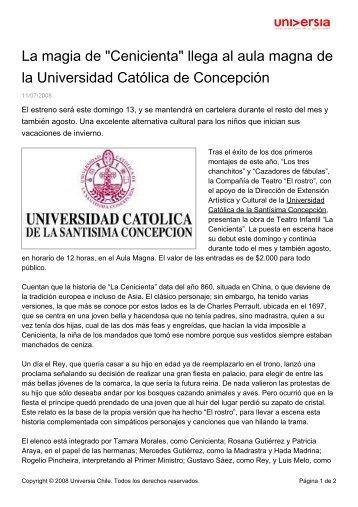 """La magia de """"Cenicienta"""" llega al aula magna de la Universidad ..."""