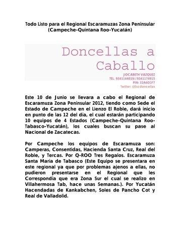 Regional de Escaramuza Zona Peninsular 2012 - charro usa