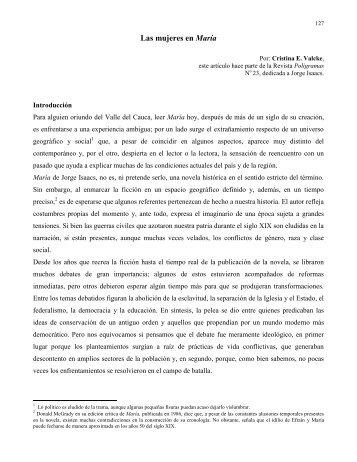 Las mujeres en María por Cristina Valcke - Universidad del Valle