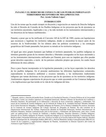 Panamá y el derecho de consulta de los pueblos indígenas ... - Unitas