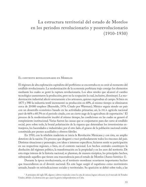 La Estructura Territorial Del Estado De Morelos En Los