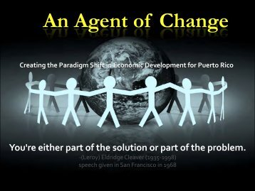 An Agent of Change - Cámara de Comercio de Puerto Rico