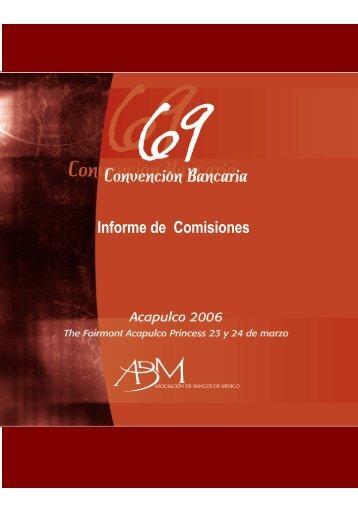 Informe de Comisiones - Asociación de Bancos de México