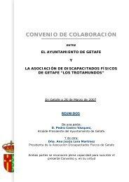 CONVENIO TROTAMUNDOS - Ayuntamiento de Getafe